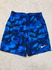 Boys brand new Nike camo swimming shorts trunks blue camouflage 10-12 years