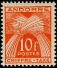 """ANDORRE FRANCAIS STAMP TIMBRE TAXE N° 30 """" CHIFFRE-TAXE 10F """" NEUF xx TTB"""
