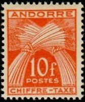 "ANDORRE FRANCAIS STAMP TIMBRE TAXE N° 30 "" CHIFFRE-TAXE 10F "" NEUF xx TTB"