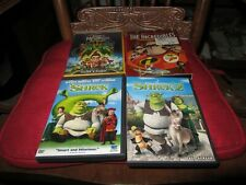 Lot of 4 Dvds Shrek 1 & 2 - 2 Disc Special Edition Widescreen,The Incredibles +