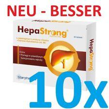 10x HepaStrong = 400 Tabletten Leberschutz -Entgiftung der Leber Pharma-Qualität