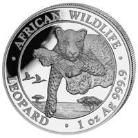 Somalia 100 Shillings  2020  Leopard - African Wildlife - 1 Oz 999 Silber