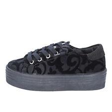 scarpe bambina 2 STAR 29 EU sneakers nero velluto camoscio AD996