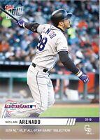 2019 National League MLB TOPPS NOW All-Star Card #4 NOLAN ARENADO Card Rockies