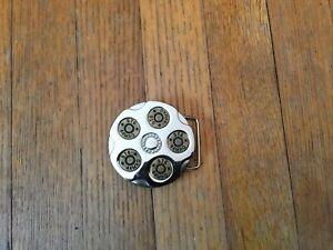 Mens Belt Buckle Gun Bullets