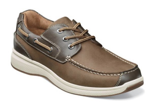 Mens Florsheim Great Lakes Moc Toe Oxford Boat Comfort Shoes Stone 13319-275 New