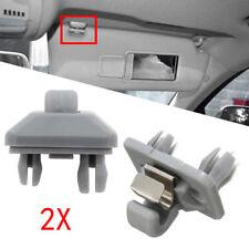 2 Pcs New Grey Sun Visor Clip For Audi A3 A4 A5 A7 B6 B7 B8 S4 S5 8U0857562A US