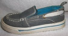 Toddler Boys Gray Fabric Garanimals Tennis Shoes Sz 9 Medium Guc