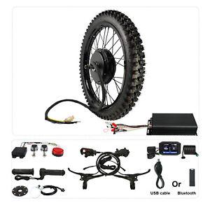 48V-72V 100A 3000W-5000W Ebike Conversion Kit 21''Motorcycle Rim Rear Wheel 26''