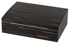 Passatore Humidor Holzstruktur grau klein ca 25 Zigarren - Polymer-Befeuchter