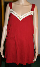 Self Esteem Top  Crochet Trim V Neck W/ Beads Hippie BOHO  NWT 22/24