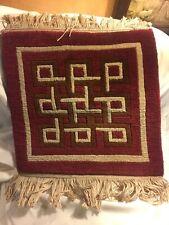 Nepal Hand Knotted Art & Craft Wool Tibet Look Oriental Area Prayer Rug Burgundy
