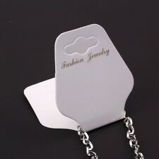 100PCS Charm White Paper Necklace Bracelet Earring Jewelry Display Hanging Card