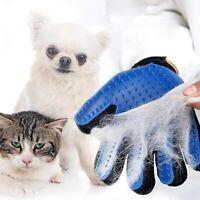 Pet Grooming Glove Deshedding Brush Mitten Brush Dog Cat Hair Remover Gentle (1)