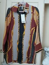 NEW WT TRF tunic blouse equestrian pattern size Med size 8 UK