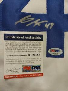 Gavin Lux Autograph Auto Los Angeles Dodgers Jersey PSA/DNA COA