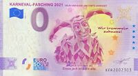 BILLET 0  EURO  KARNEVAL FASHING ANNIVERSARY   ALLEMAGNE 2021  N° DIVERS