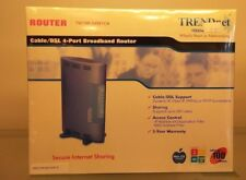 New Trendnet Cable/Dsl 4 Port Broadband Router Tw100-S4W1Ca