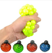 Squishy Colored Mesh Stress Reliever Ball Squeeze Stressball Party Bag Fun Gift