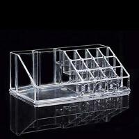 16Sections Cosmetic Lipstick Makeup Organiser Display Storage Stand Holder Clear