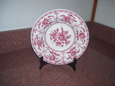 JOHNSON BROTHERS SOUP BOWL FLOWERS RED WHITE EARTHENWARE  ENGLAND