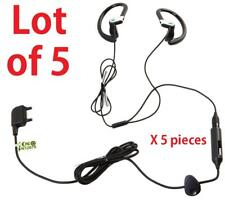 5x OEM Sony Ericsson Stereo Headset Earbuds Headphones w/ Mic and Answer Key