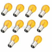 10x Amber 1157 BAY15D Car Tail Brake Stop Turn Signal Reverse Light Side Bulb