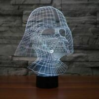 Star Wars Darth Vader Illusion LED Lamp, 3D Light Experience - 7 Colors Options