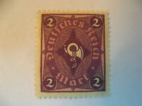 RARE 1922-23 DEUTHCHES REICH (COACHHORN) 2 MARK STAMP/GERMAN EMPIRE/XF/NH/MORE.