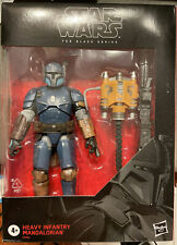 Star Wars The Black Series Heavy Infantry Mandalorian Toy 6-inch Figure - Dented