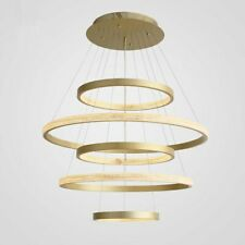 Modern Luxury LED Gold Round Pendant Light Chandelier Bedroom Living Room Lamp