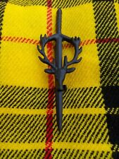 Scottish Stag Head Kilt Pin Matt Black Finish/Brooch Kilt Pin/Kilt Pins
