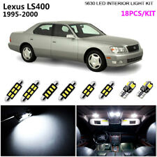 18Lamps Xenon White 6000K Interior Dome Light Kit LED Fit 1995-2000 Lexus LS400