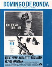 Domingo De Ronda 1968 BLUE Karl Malden Movie Sheet Music MANOS HADJIDAKIS