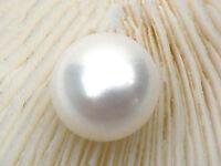 Grade Lavender Drop Akoya Pearls Half Drilled Single Loose 9.5x11mm AAA