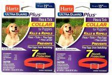 "(Pack of 2) Hartz Ultra Guard Plus Flea & Tick Up To 15"" Neck Puppy Flea Collar"