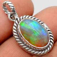 Natural Ethiopian Opal 925 Sterling Silver Handmade Pendant Jewelry SDP59811