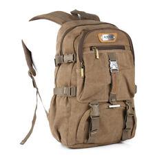 Rucksack Sport Reise Wander Schul Tasche Canvas Canvas Pack Outdoor AOKING Khaki