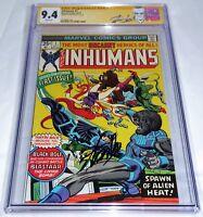 Inhumans #1 CGC SS Signature Autograph STAN LEE Blastaar Appearance Comic Book