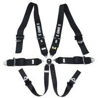 """NEW! FIA QMS 6 Point Harness 3""""/2"""" Club Racing BLACK Belts LIGHT"""