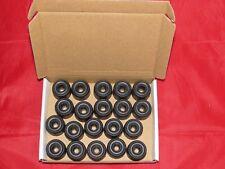 Black Plastic Door Stops.Pack of 20. 27mm Dia. Free P+P