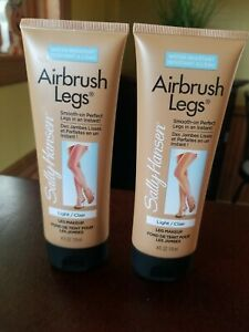 2 Sally Hansen Light 4oz Airbrush Leg Smooth-on PerfectWater Resistant, New