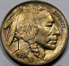 1938-D/S OMM Buffalo Nickel Superb GEM BU++ NICE TONE!! Neat Variety!!
