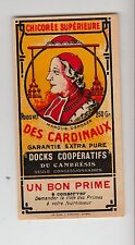 Ancienne étiquette Chicorée des Cardinaux