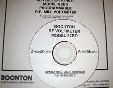 BOONTON 92BD RF Voltmeter , Operating & Service Manual