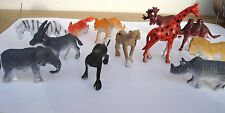 "40 2"" SMALL  PLASTIC WILD ZOO ANIMALS. CARNIVAL OR EDUCATIONAL TOYS. PARTY"