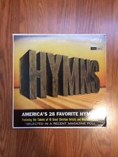 EUC! VARIOUS 1963 DOUBLE LP HYMNS AMERICA'S 28 FAVORITE WITH SONGBOOK!! L@@K!!!!