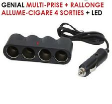 SPECIAL CAMPING CAR CARAVANE GENIALE MULTIPRISE ALLUME CIGARE 4 SORTIES + LED