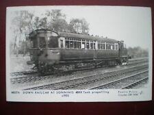 POSTCARD RP RAIL DOWN RAILCAR AT SONNING 48XX TANK PROPELLING 1935