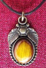 Forest Fairy Amulet Pendant Sidhe Celtic Pagan Faerie Antique Brass Cotton Cord